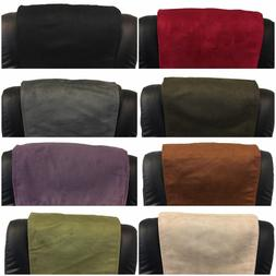 FURNITURE RECLINER HEADREST COUCH SUEDE LEATHER SOFA PROTECT
