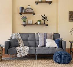 Futon Sofa Bed Reclining Sleeper Couch Chaise Lounge Daybed