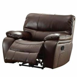 Glider Reclining Chair With Gel Match Leather Upholstery, Br