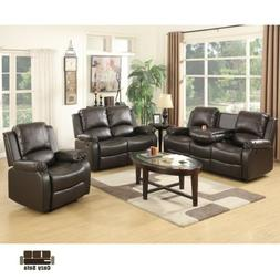 3+2+1 Sofa Set Loveseat Couch Recliner Leather Living Room F
