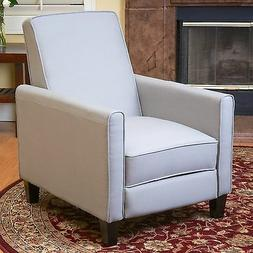 Grey Linen Upholstered Recliner Chair Home Living Room Bedro