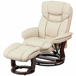 Copper Grove Gunnison Faux Leather Recliner with Ottoman - B