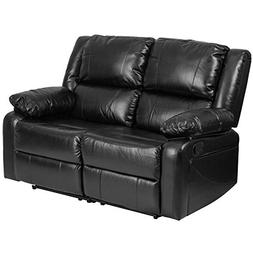 Flash Furniture Harmony Series Black Leather Loveseat with T