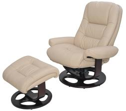 Barcalounger Jacque Pedestal Recliner Chair and Ottoman Upho