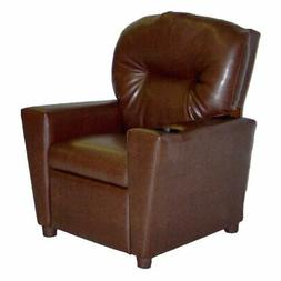 Dozydotes Kid Recliner with Cup Holder - Pecan Brown