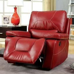 Furniture of America Knightly Leather Recliner