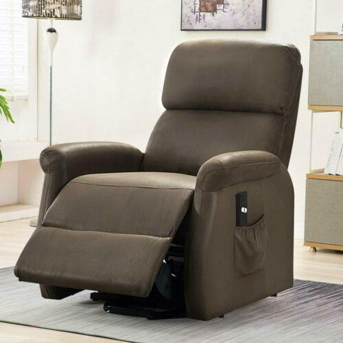 Electric Recliner Chair Elderly Padded Sofa w/RC
