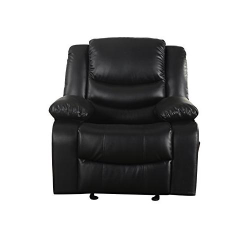 Bonded Leather Rocker Living Chair, / Brown