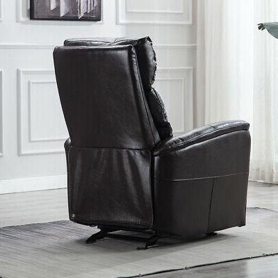 Air Leather Glider Recliner Chair Seat Reclining