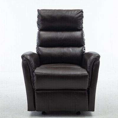 Air Leather Glider Chair Paddded Seat Reclining Lounge