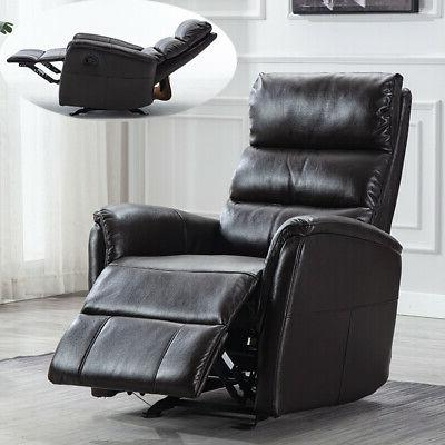 air leather glider recliner chair paddded seat