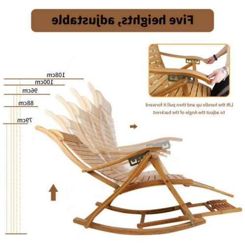 Bamboo Arm Chair Outdoor Balcony Relaxing