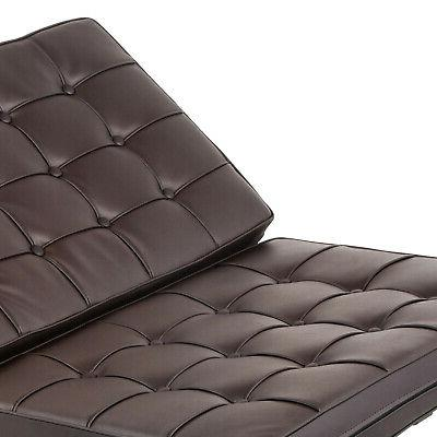 Barcelona Style Ottoman PU Leather Classic Luxury Recliner