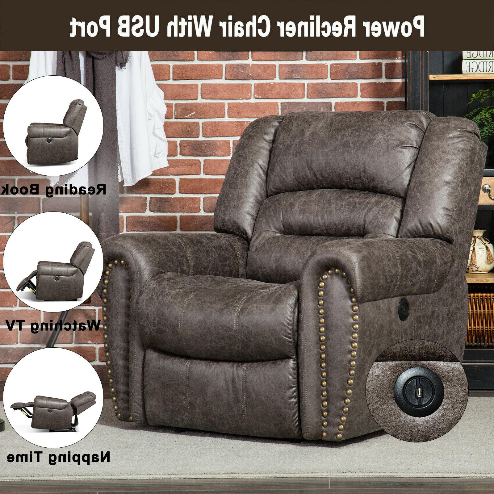 black power electric recliner chair with usb