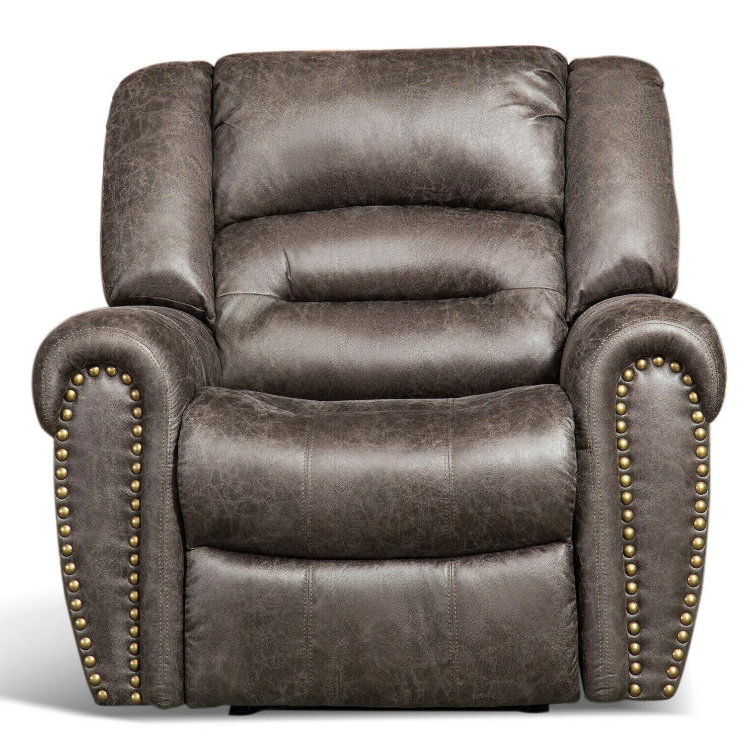 Bonded Leather Electric Recliner w/Nails Thick