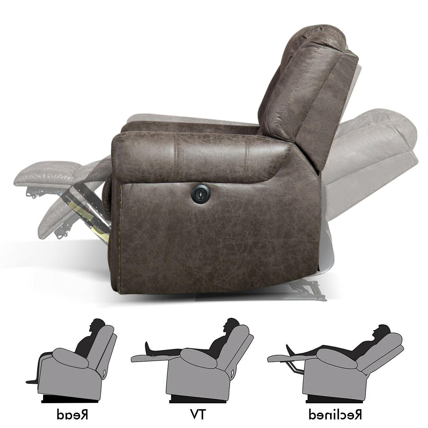 Bonded Leather Electric Recliner Thick