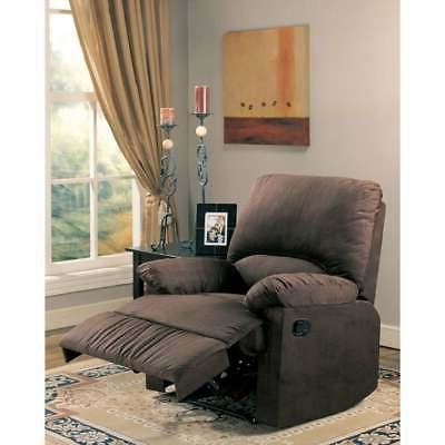 Casual Microfiber Attractive Recliner, Dark Brown Dark brown