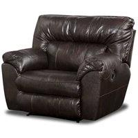 Catnapper Nolan Leather Cuddler Recliner In Godiva