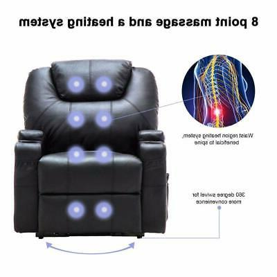Electric Recliner Chair Heated Massage Remote Control