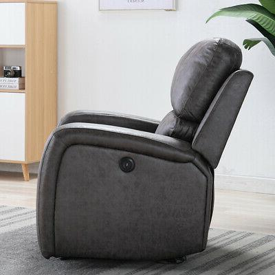 ELECTRIC POWER RECLINER SUEDE PADDED