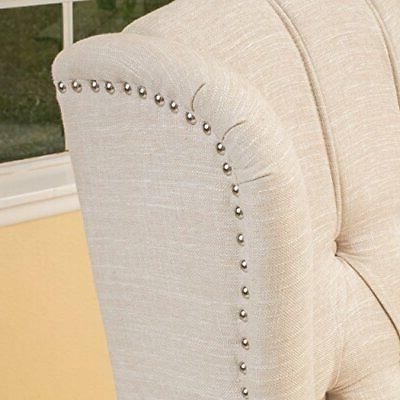 Christopher Knight Tufted Arm Recliner, Beige