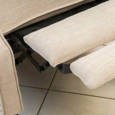 Christopher Knight Home Tufted Fabric Arm Recliner,