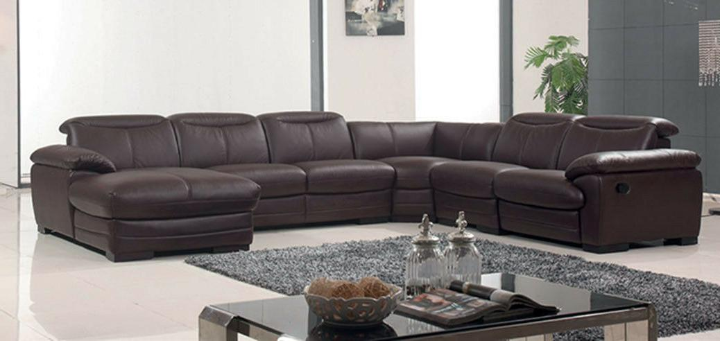 ESF 2146 Brown Contemporary Genuine Leather Electric Recline