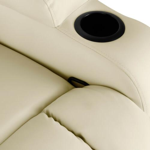 Extra Massage Chair Heated Vibrate 360° Swivel White