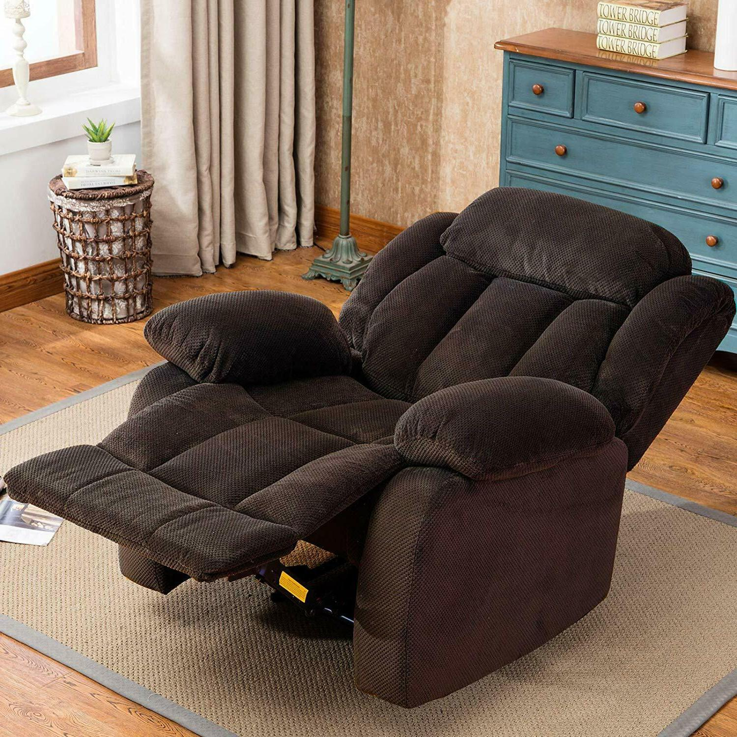 """Fabric Manual Recliner 23"""" Wide Seat Room Overstuffed"""