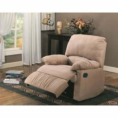 Flamboyant Contemporary Style Light Brown recliner Light bro