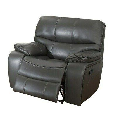 Glider Reclining Chair With Gel Match Leather Upholstery, Gr