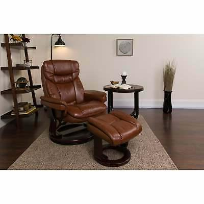 """Copper Gunnison Leather Recliner with - 34"""""""