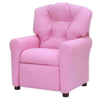 Kids Pink Recliner Child Size Chair Soft Seat Microfiber Uph