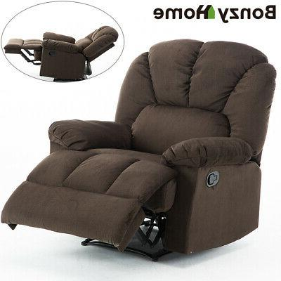 leather recliner armchair push back sofa soft