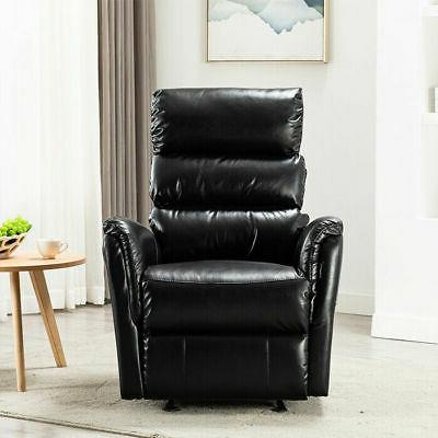 Manual Rocker Recliner Chair Padded