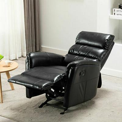 Manual Glider Rocker Chair Breathable Sofa Padded Headrest