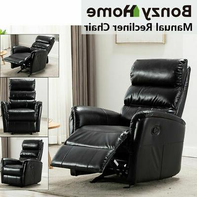 manual glider rocker recliner chair breathable leather