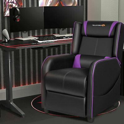 Massage Gaming Recliner Single Room Home Theater Purple