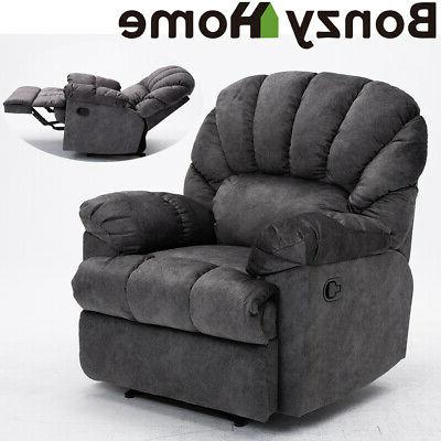 microfiber recliner chair suede padded armrest