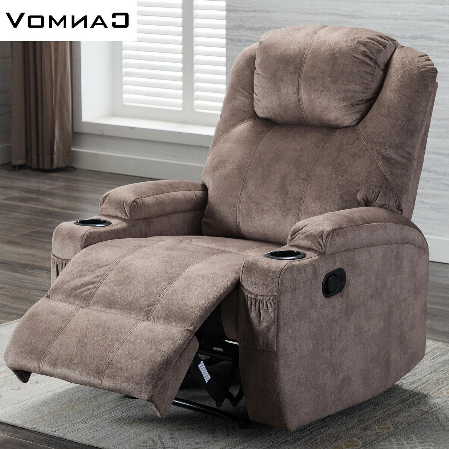 Microfiber Recliner w/Cup Style