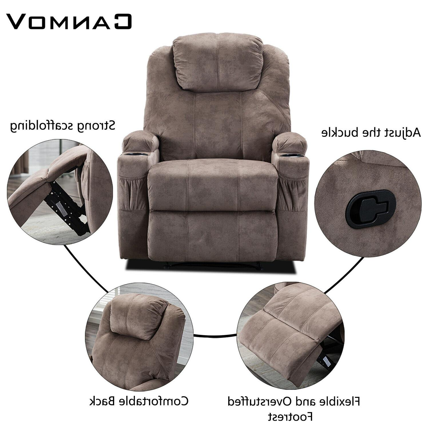 Microfiber Recliner w/Cup Style Theater
