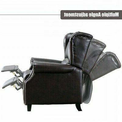 Push Padded Sofa Accent Arm Chair Brown