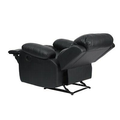 Modern Leather Recliner Single Reclining