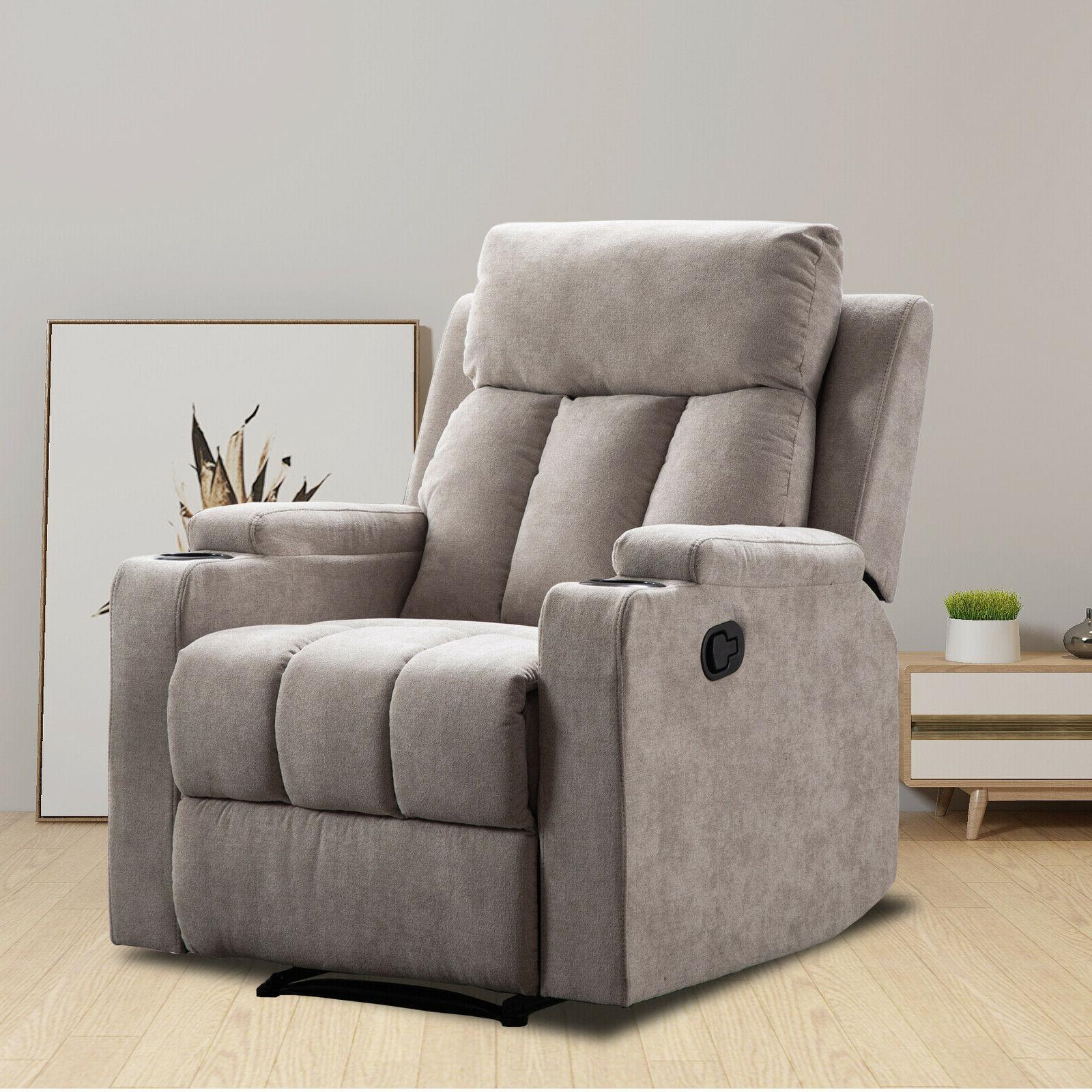 Modern Sofa Living Room Theater Seating Cup Holders