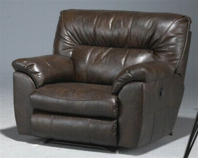 Catnapper - Nolan Extra Wide Cuddler Recliner in Chestnut -