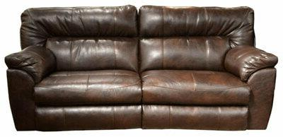 Catnapper - Nolan Extra Wide Reclining Sofa in Chestnut - 40