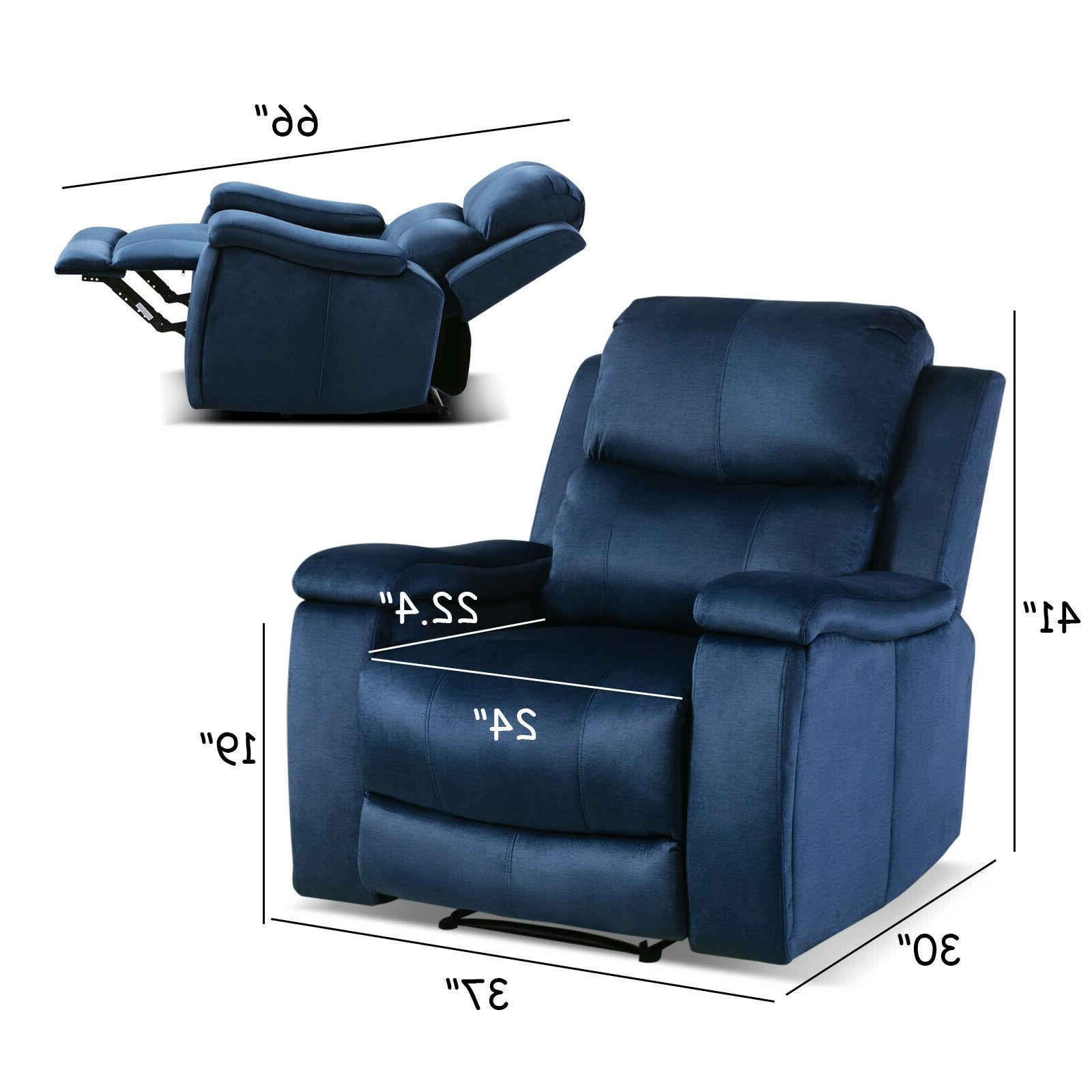 Oversized Recliner Chair Pullable Theater Seating Sofa