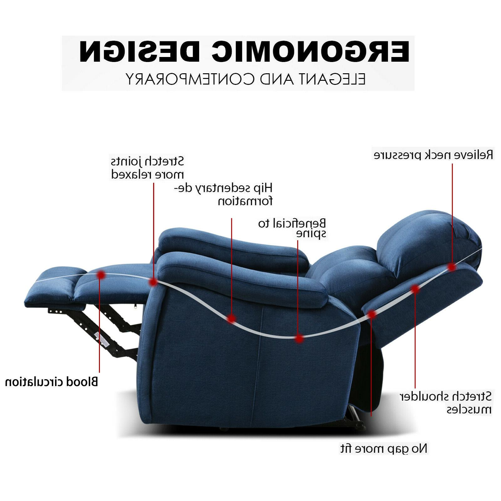 Oversized Recliner with Pullable Cup Holder Theater Seating