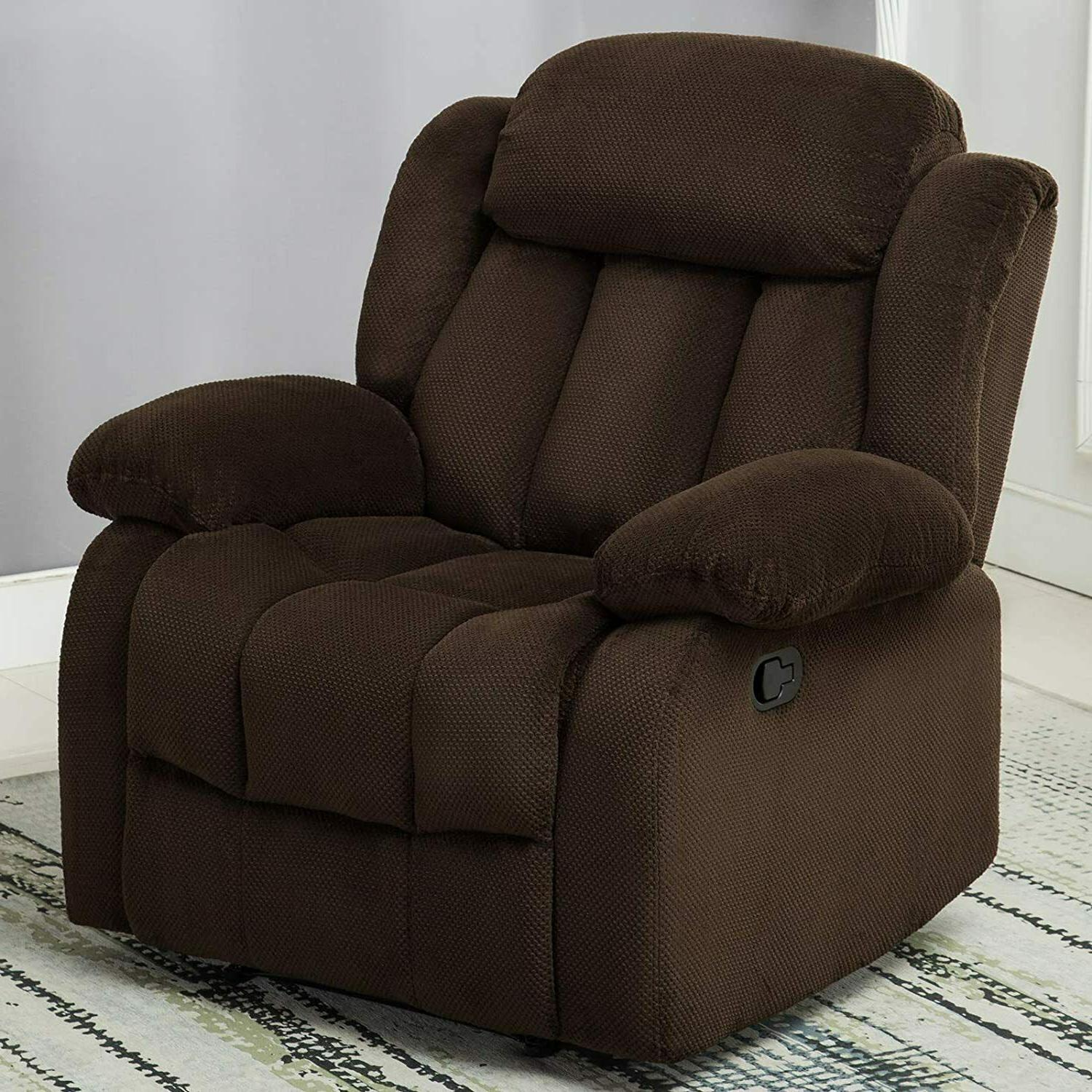 Overstuffed Breathable Fabric Theater Sofa