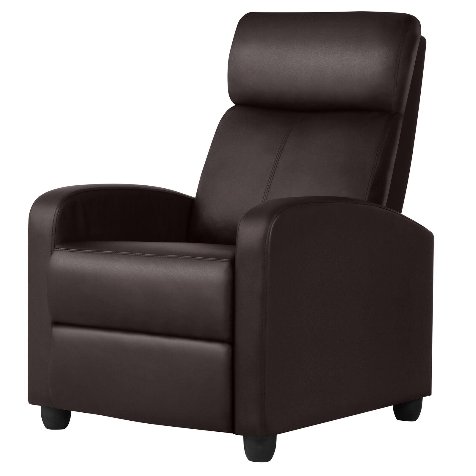 pu leather recliner chair living room single